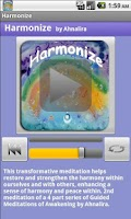 Screenshot of Harmonize Guided Meditation