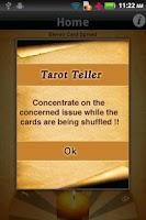Screenshot of Tarot Teller