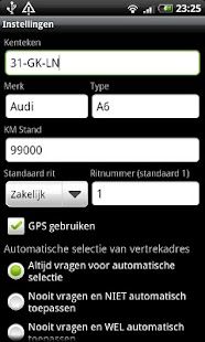 Kilometer Registratie PRO - screenshot thumbnail