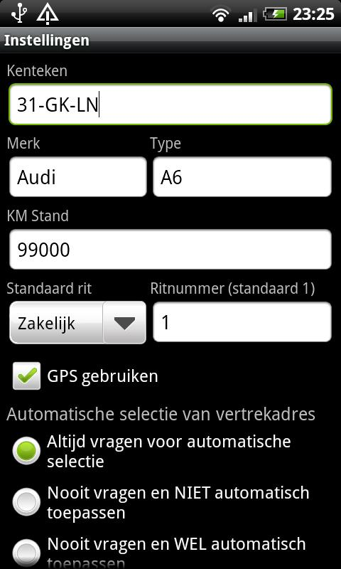 Kilometer Registratie PRO- screenshot