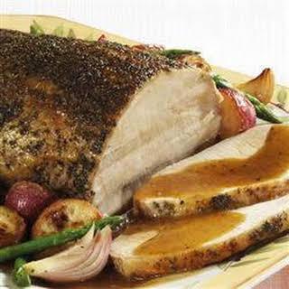 Savory Herb Pork Roast with Gravy.