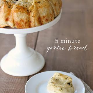 5 Minute Garlic Bread - the Best Dinner Rolls