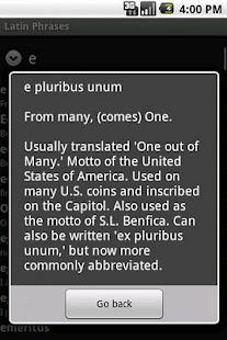 Latin Phrasebook- screenshot thumbnail