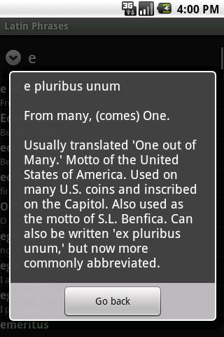 Latin Phrasebook- screenshot