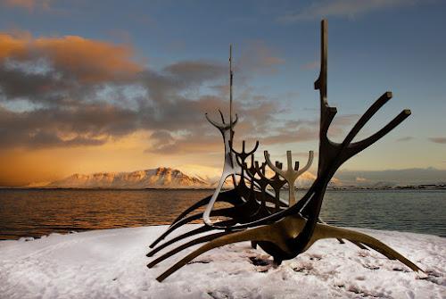 Sólfarið Reykjavík (Sun Voyager) by Anna Guðmundsdóttir - Artistic Objects Other Objects ( sun voyager, reykjavík, ísland, sólfarið, víkingaskipið,  )
