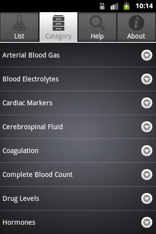 Lab Values- screenshot