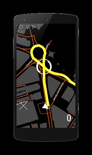 轉角導航。地圖抬頭顯示