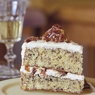 Sour Cream Layer Cake with Pecan Brittle