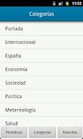 Screenshot of Noticias de España