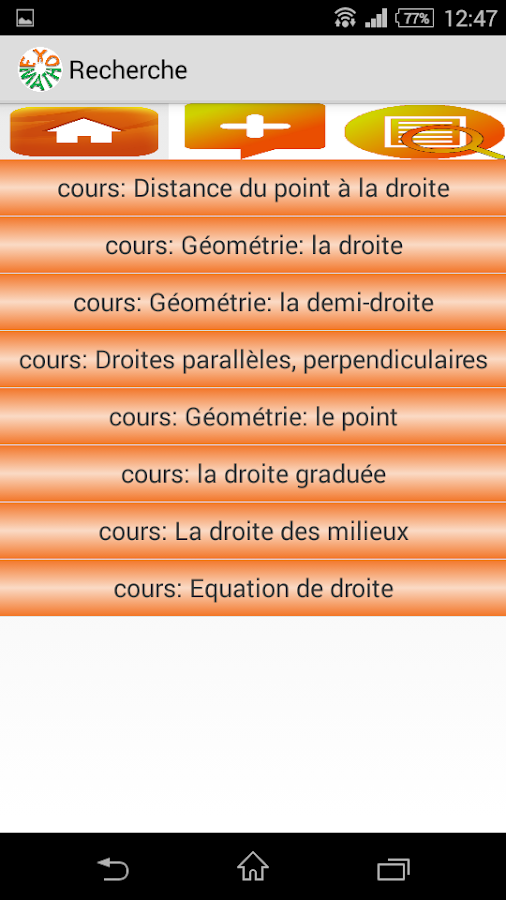 Exomath cours, exercices maths- screenshot