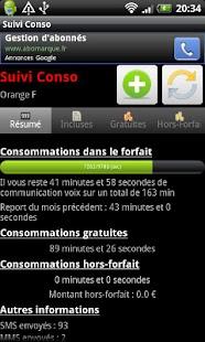 Suivi Conso- screenshot thumbnail