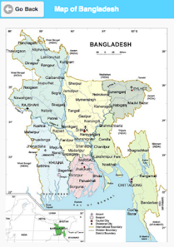 Map of Bangladesh - মানচিত্র