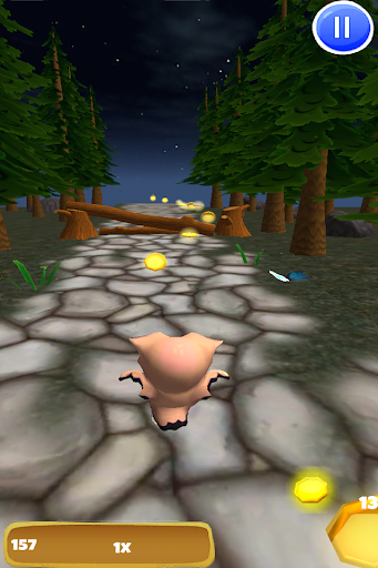 猫头鹰运行:3D鸟的运行游戏