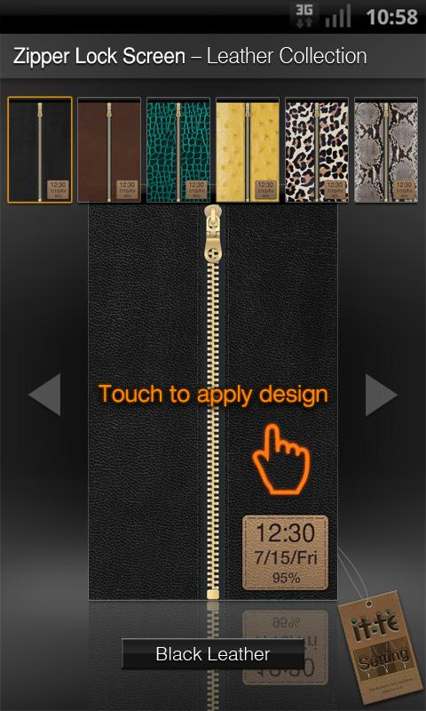 Zipper Lock Leather Collection- screenshot