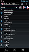 Screenshot of English Czech Dictionary