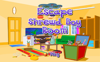 Screenshot of Escape Game-Shrewd Boy Room