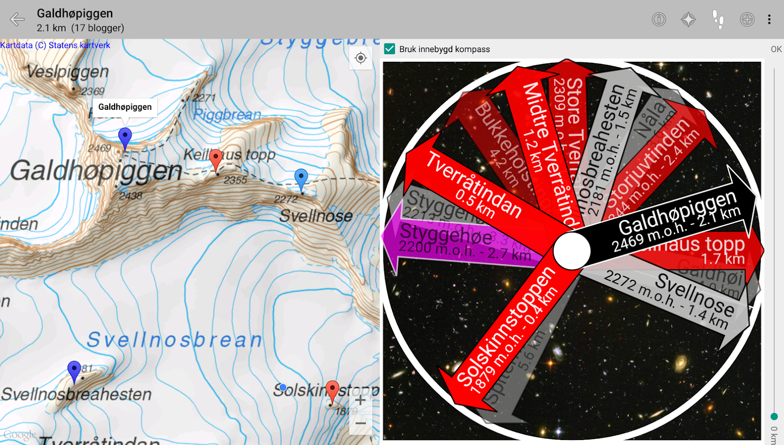 Norwegian Hiking Compass- screenshot