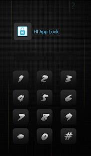 HI AppLock Simple Black Theme