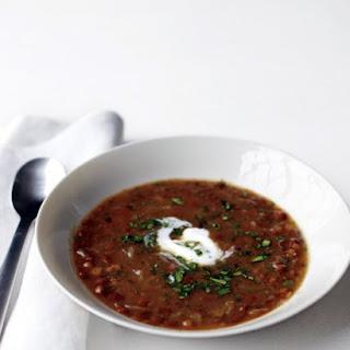 Caramelized Onion and Lentil Soup.