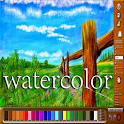 Realistic watercolor Easy icon