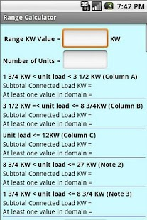 Range Calculator Screenshot 2