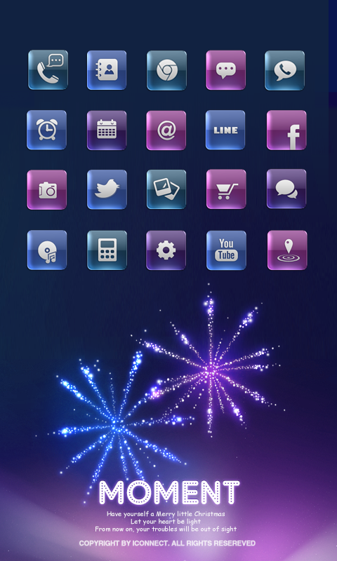 moment icon theme - screenshot