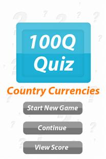 Country & Currency: 100Q Quiz- screenshot thumbnail