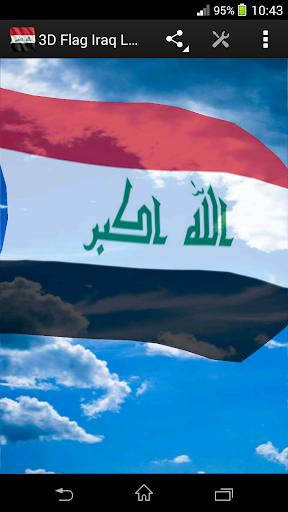 3D Flag Iraq LWP