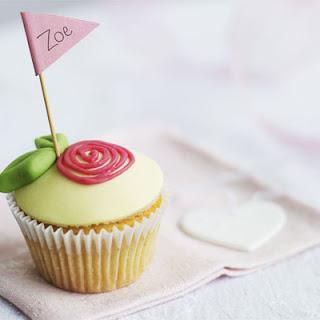 Little Rose & Almond Cupcakes.