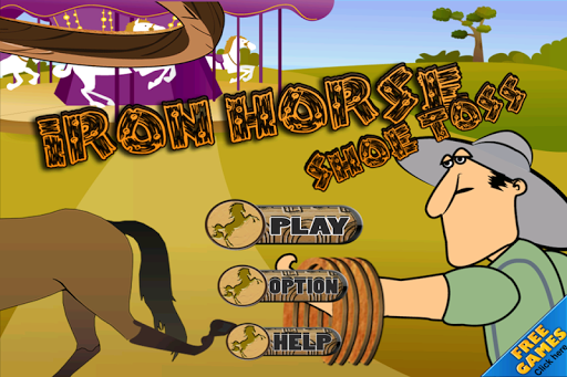 Iron Horse Shoe Toss Free