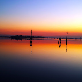 Burano  by Vinod Chauhan - Landscapes Sunsets & Sunrises ( water, waterscape, sunset, venice, italy, island )