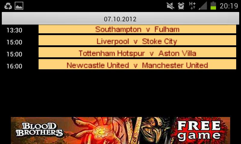 EPL on European Satellite TV - screenshot