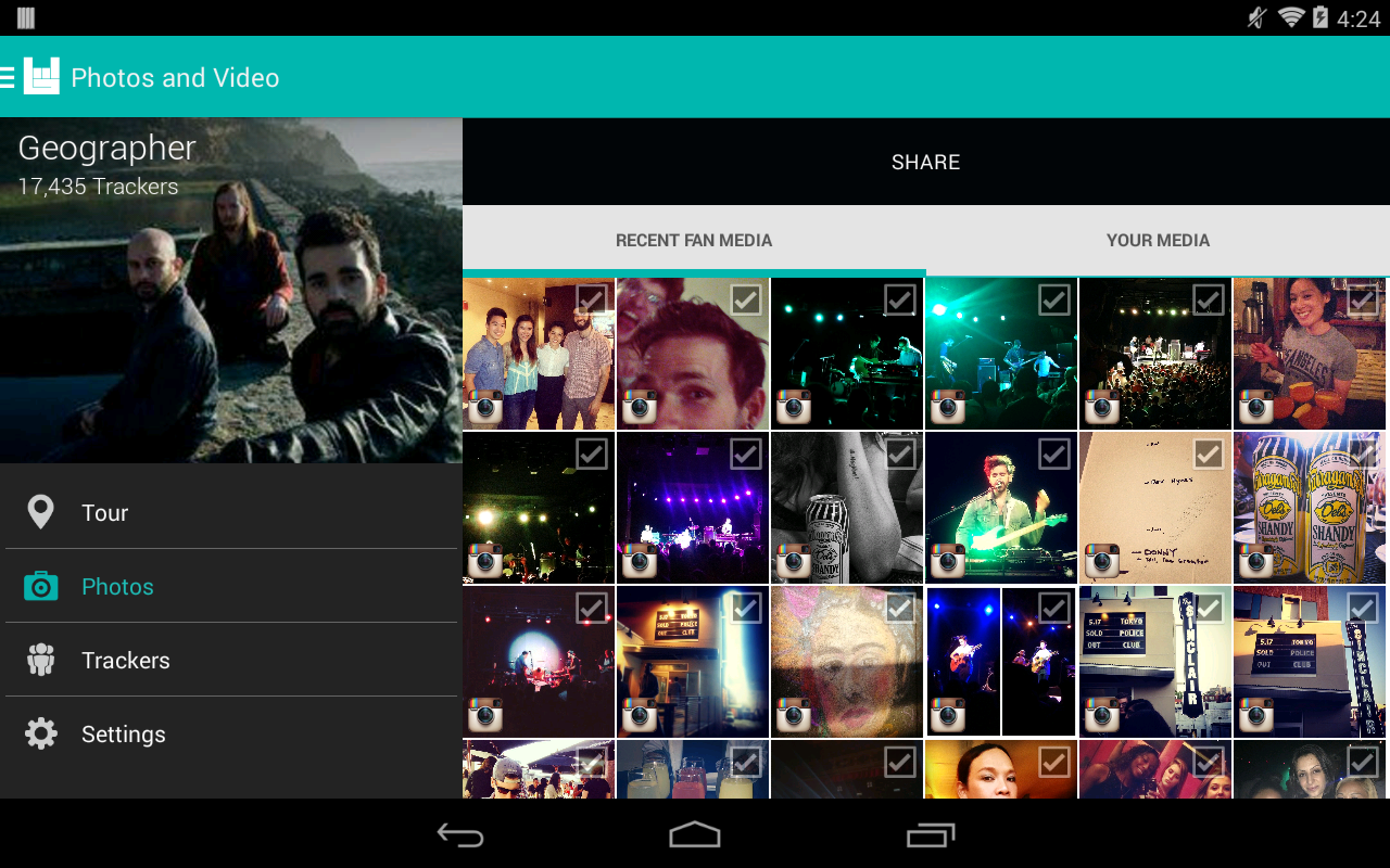 Bandsintown Manager- screenshot