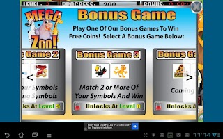 Screenshot of Mega Zoo Slot Machine