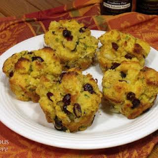 Cranberry Cornbread Stuffing Muffins.