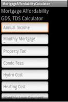 Screenshot of Canadian Mortgage Advisor TDS