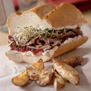 Tangy Roast-Beef Sandwiches.