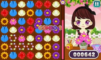 Screenshot of Judy's Flower Puzzle-GirlsGame