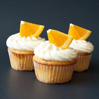 Fresh Orange Cupcakes.