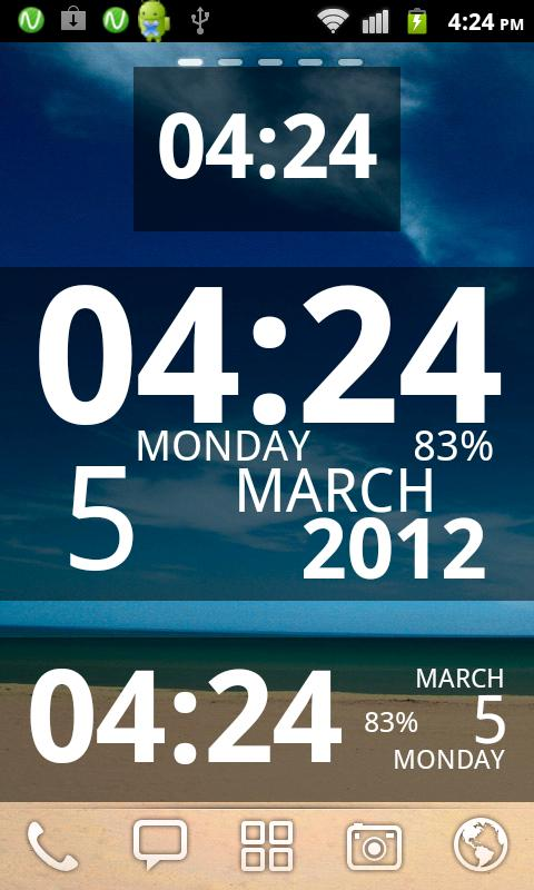 Digi Clock Widget - screenshot