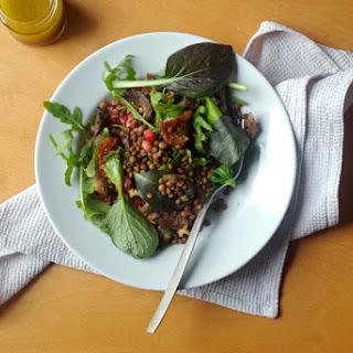 Lentil and Mushroom Salad with Sumac Lemon Dressing