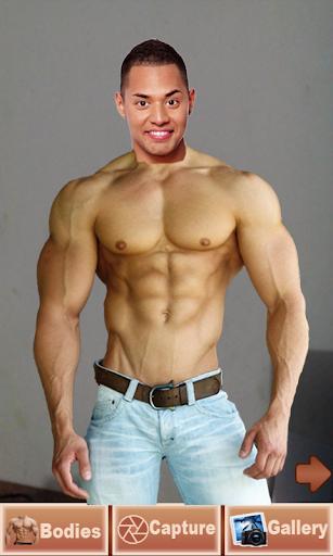 男子健美运动员拍摄照片