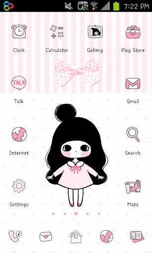Pink Ribbon go launcher theme