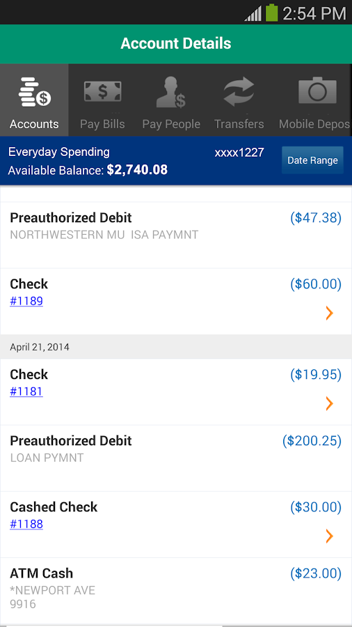 Charter One Mobile Banking - screenshot
