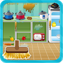 Clean house and kitchen icon