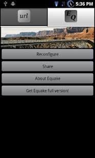 Equake Lite App Widget- screenshot thumbnail