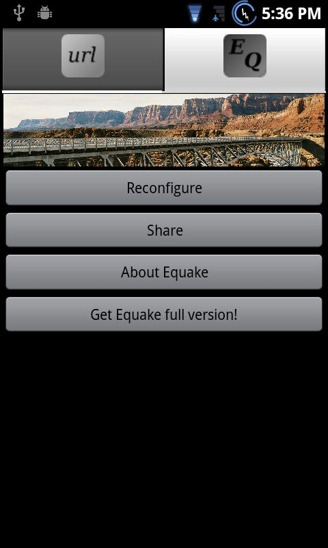 Equake Lite App Widget - screenshot