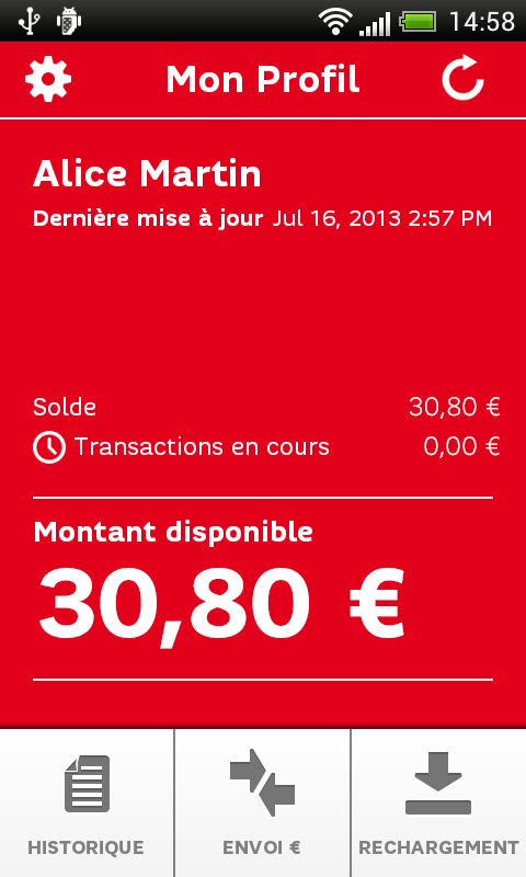 SFR PayCard - screenshot