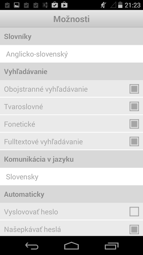 English-Slovak Dictionary Plus