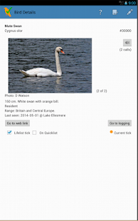 WP & UK Birding Checklist- screenshot thumbnail